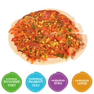 Bezlepková pizza Grillovaná zelenina