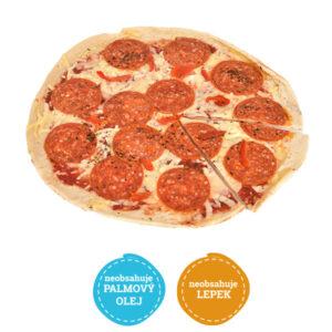 Bezlepková pizza salámová