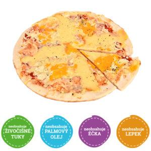 Bezlepková pizza sýrová